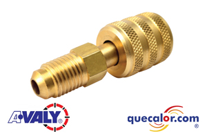 Adaptador recto AVALY R-410 1/4 FL-M X 5/16