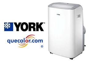 Aire Acondicionado Portatil YORK YUBFZC12BAG-AFX, 12000 Btu, 110 V. Refrigerante Ecologico R410a