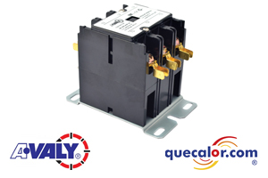 Contactor Magnetico AVALY 24 V, 30A, 3 polos