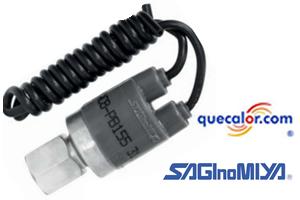 Interruptor De Presion Encapsulado Saginomiya, ACB-PB187 , 29.9 A 22.9 Kg/cm2, 425 Psi A 325 Psi. Desconecta cuando baja la presion