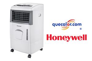 Enfriador De Aire Evaporativo Tipo Cooler Marca Honeywell Portatil Con Control Remoto, Modelo CL151 Con 3 Funciones: Enfriador, Ventilador Y Humidificador. Capacidad De 15 Litros De Agua. Compartimiento Para Hielos, Alarma De Bajo Nivel De Agua. Consumo D