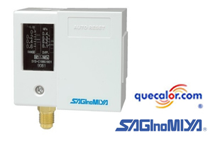 Interruptor De Baja Presion Saginomiya Con Restablecimiento Automatico SNS-C106 , Rango - 50cmHg A 6 Kg/cm2, Diferencial De 0.60-4.00  Con Capilar