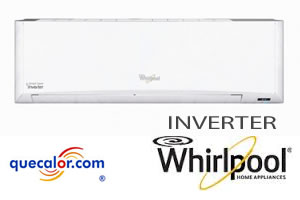 Minisplit Inverter Whirlpool Hi-Wall 1 TR, Frio Calor 220/1/60.  Mod WA6063Q