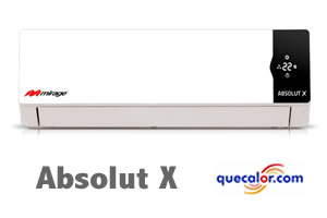Minisplit Mirage Absolut X 1 TR con calefaccion 220/1/60