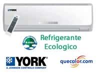 Minisplit York High Wall R410a ECOLOGICO 1.5 TR Frio Y Calor 220/1/60