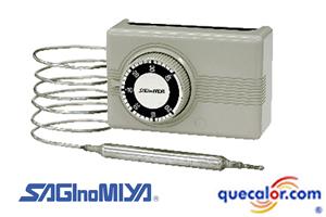 Termostato De Bulbo Remoto SAginomiya Modelo ALS-C1090, Rango De  +40 C A +90 C, Diferencial 2.5 C Aprox