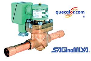 Valvula Solenoide Saginomiya Para Refrigerantes No Corrosivos SEV-502BXF, Conexion Flare 1/4, 110 O 220 Vac