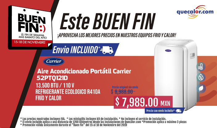 Promocion Buen Fin portatiles CARRIER
