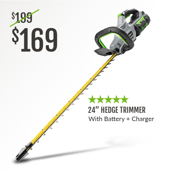 24inch Hedge Trimmer with Battery and Charger
