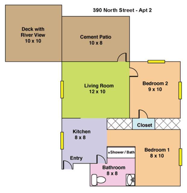 390 N Shore #2 Floor Plan
