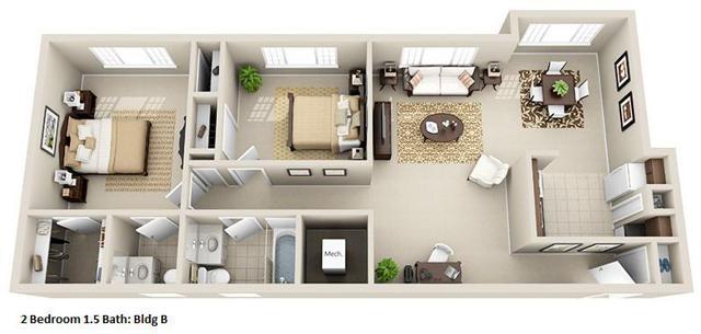 2 Bedroom, 1.5 Bathroom - Milton