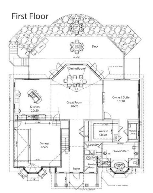 881 Carlyle First Floor Plan