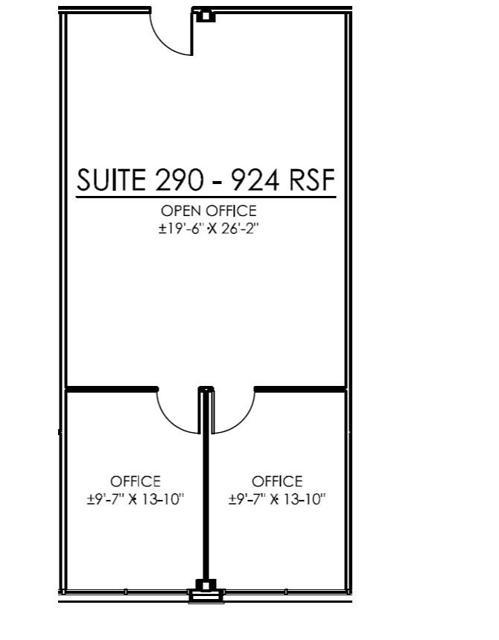 GVEC Suite 290 Floor Plan