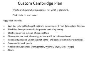 Custom Cambridge Plan