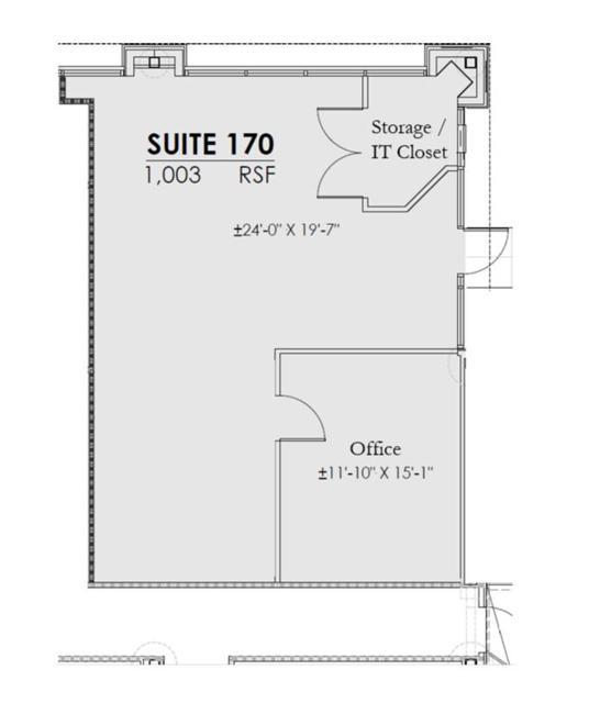 WCC Suite 170 Floor Plan