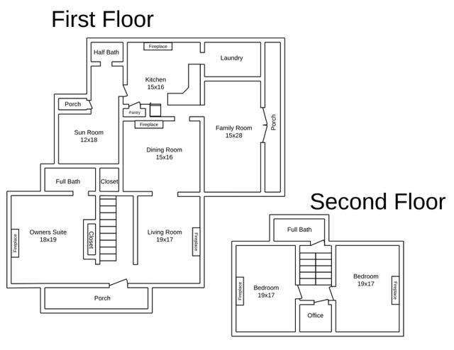 464 Long Meadow Road Floorplans