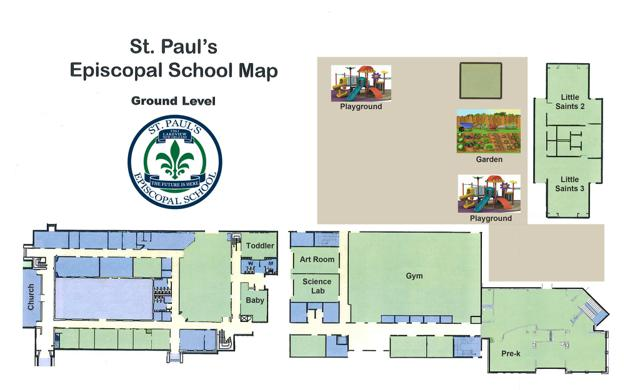 St. Paul's Episcopal School Map