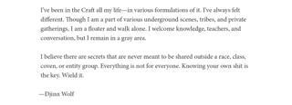 Djinn Wolf Statement