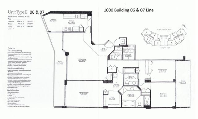 1000 Williams Island Blvd Floor Plan 06 & 07 Line
