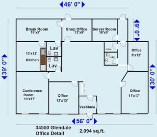 34550 Glendale office detail
