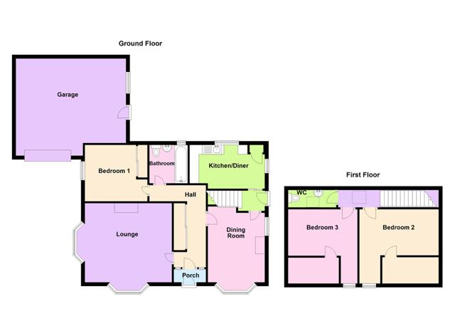 Floor plan - Alexandra Bungalow, Thurso