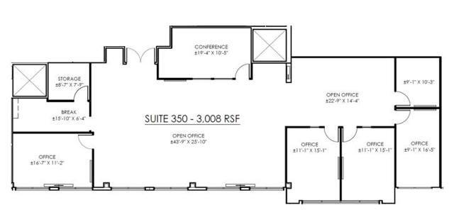 WCC Suite 350 Floor Plan
