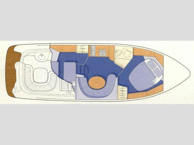 Sealine S34 floor plan