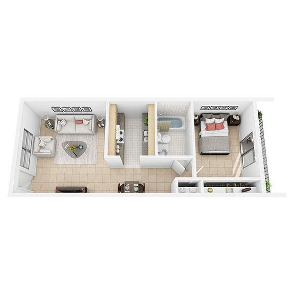 Lilly Standard - 1 Bed 1 Bath