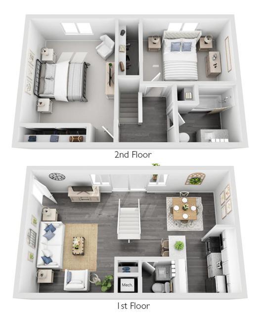 2 Bedroom, 1.5 Bathroom Townhome