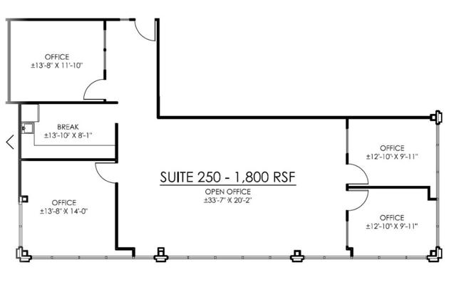 HC Suite 250 Floor Plan