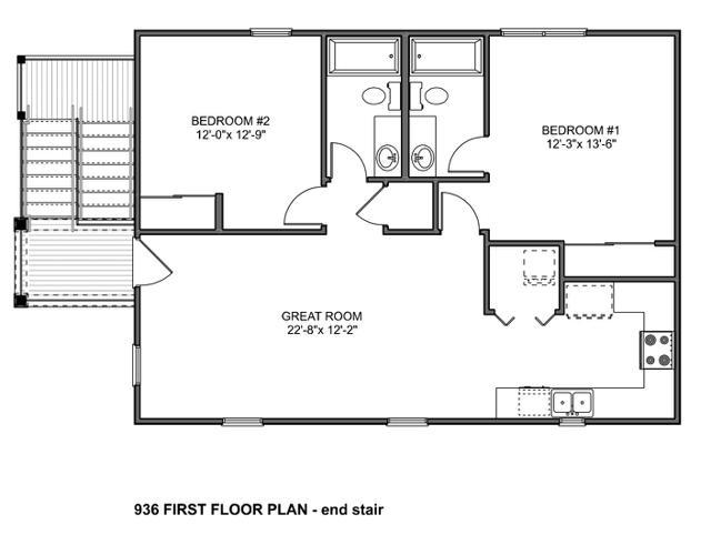 B15 936 end stair