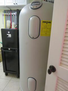 Laundry room water heater