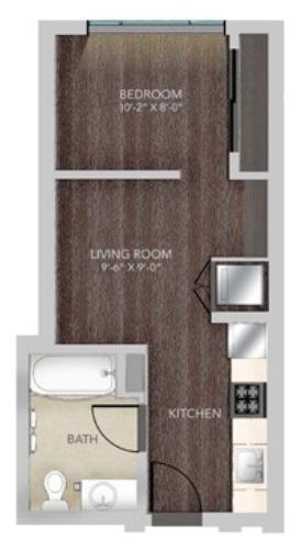 A209 0x1 S3 Floorplan 375 SQFT