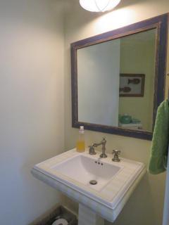 Half bath mirror