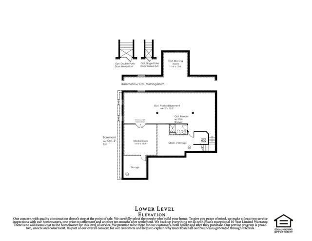 213 Larchmont Floor Plans basement