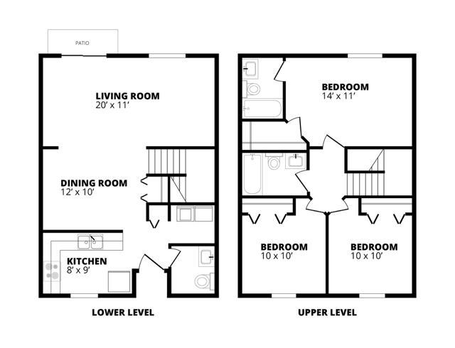3 x 2.5 Floor Plan