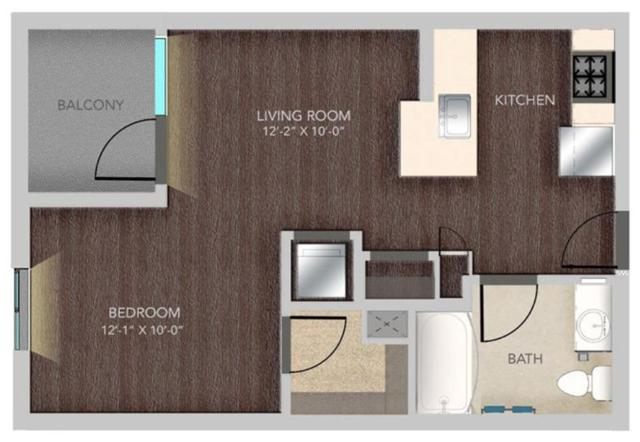 B215 – 0X1, S4 Floorplan, 509SQFT