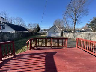Deck, Backyard & Garage