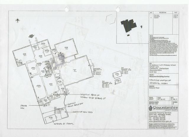 Plan of St Andrews School Chedworth
