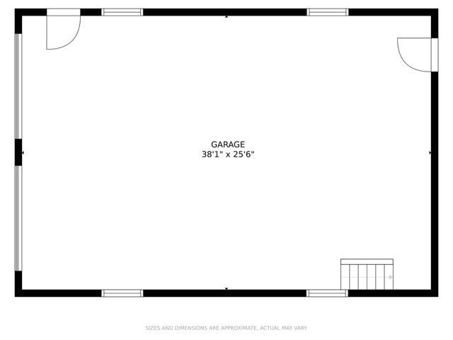 Detached Garage + Bonus Space Above