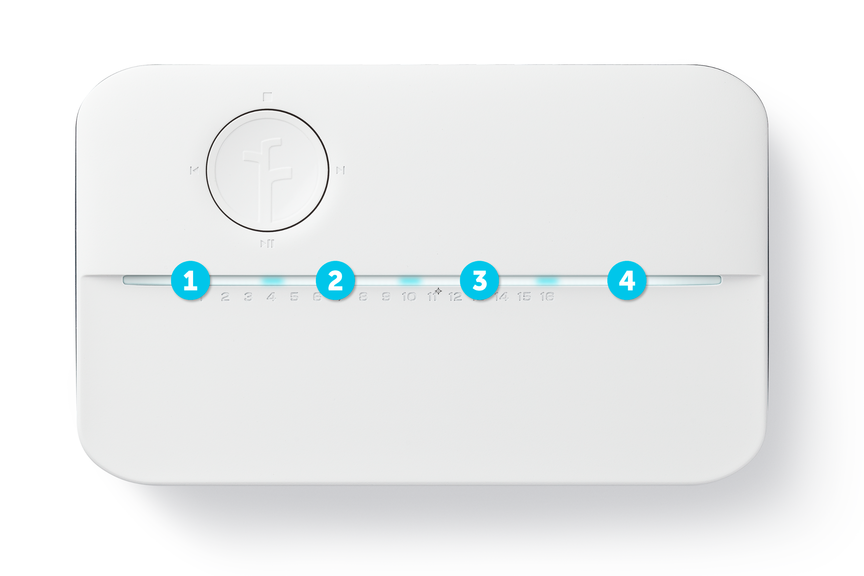 Rachio 3 light code quadrants