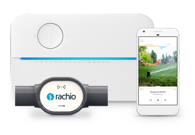 Rachio 3 with Rachio Wireless Flow Meter and Rachio app