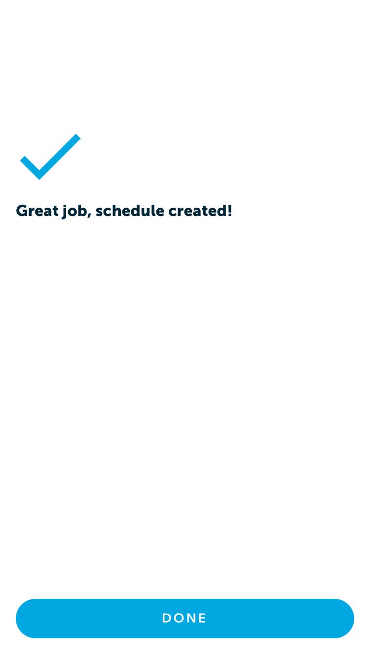 schedule created
