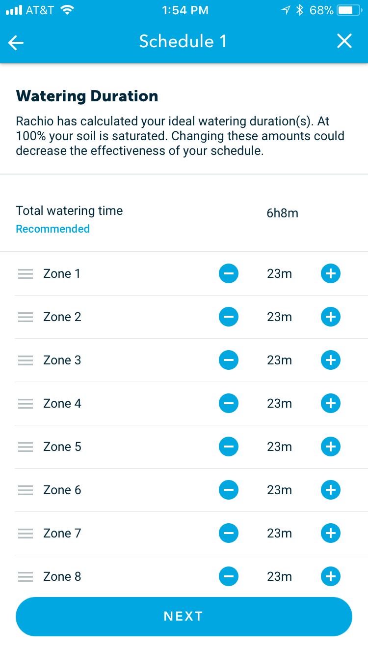 watering duration