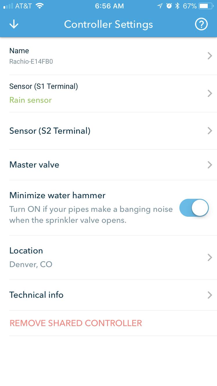 Rachio Rain Sensor