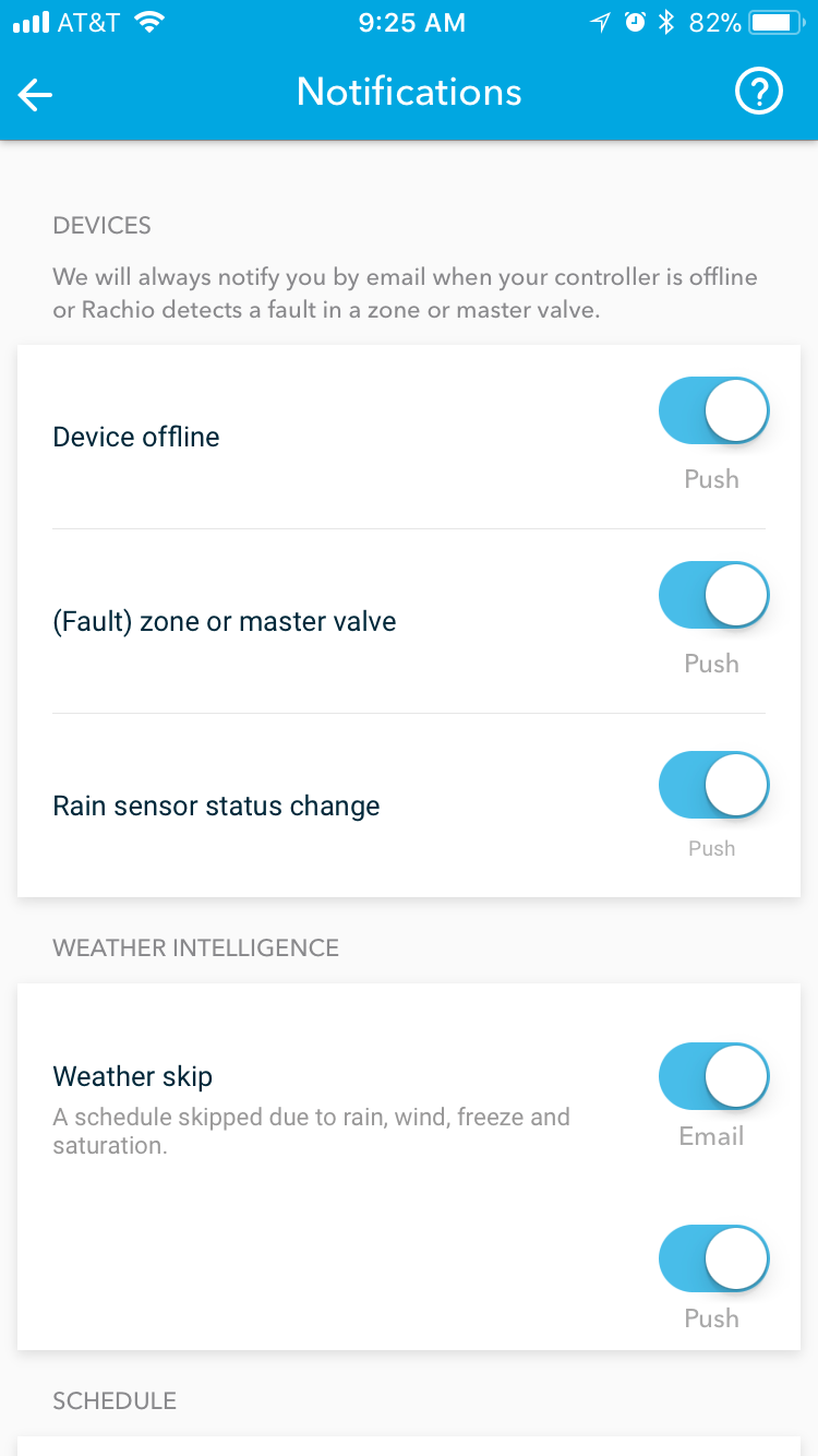 Update Rachio Notifications