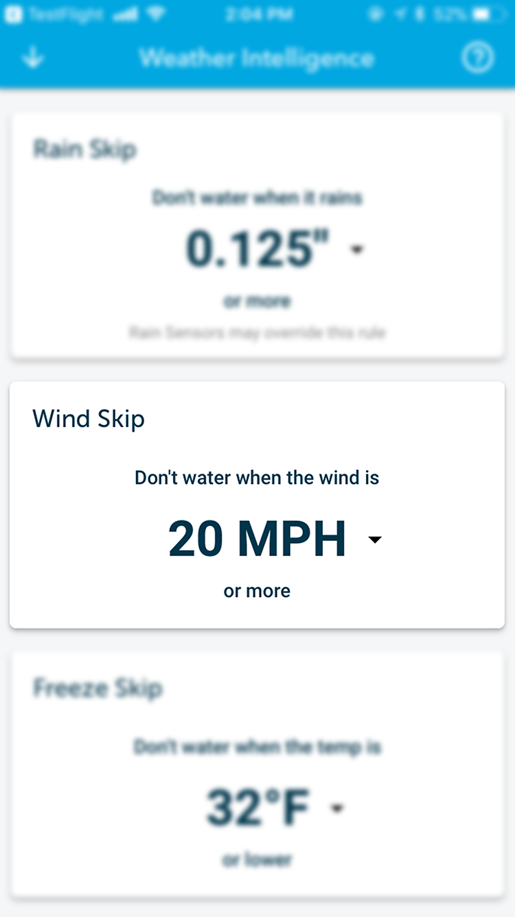 Rachio Weather Intelligence Wind Skip feature