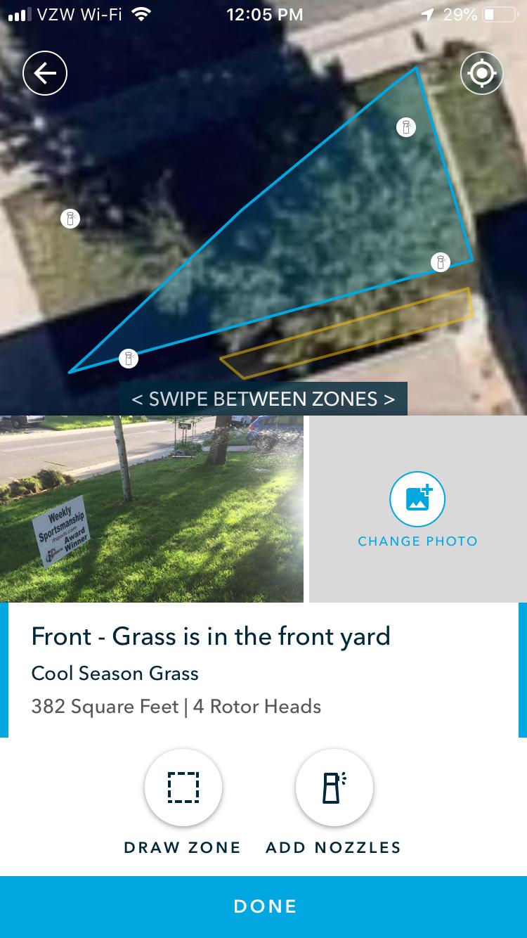 Yard Map nozzles