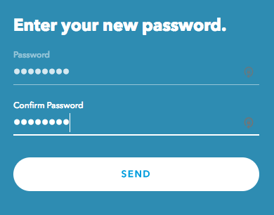 enter new Rachio password