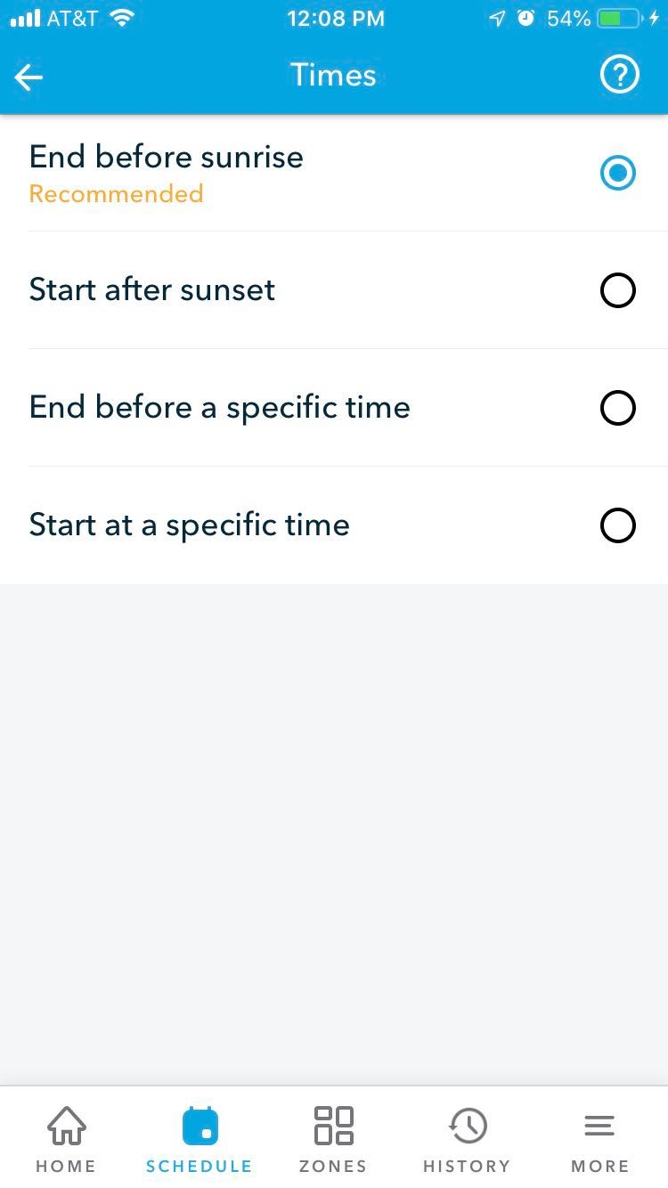 edit schedule time or when your schedule waters